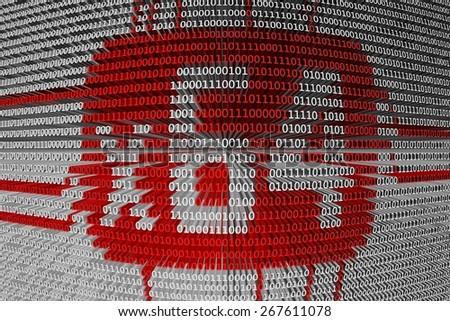 binary code is a 64 bit CPU - stock photo