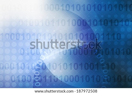 binary code on blue to white color, abstract background