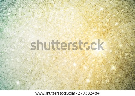 binary code on yellow to green gradient color abstract background - stock photo