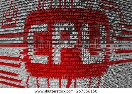 binary code the CPU - stock photo