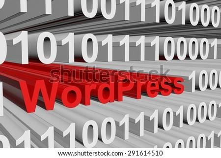 binary code WordPress - stock photo