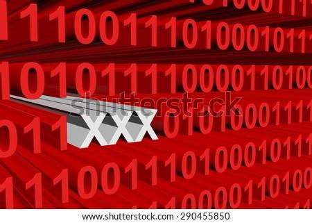 binary code xxx - stock photo
