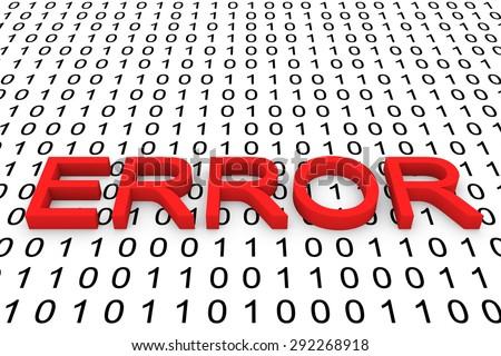 binary error code - stock photo