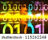 Binary Number Glow - stock photo