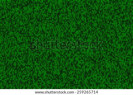 binary numbers - high density, green on black background - stock photo