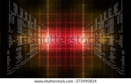 Binary red computer code