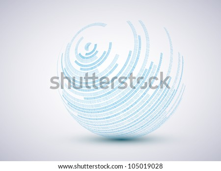 binary sphere background. - stock photo