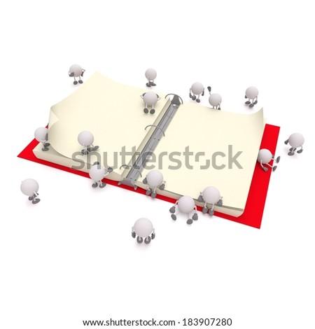Binder / Binder map / Binder organizer / 3D book / 3D Binder / Education book / School book - stock photo