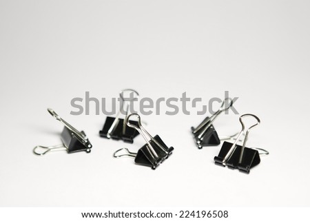 Binder clips, close-up