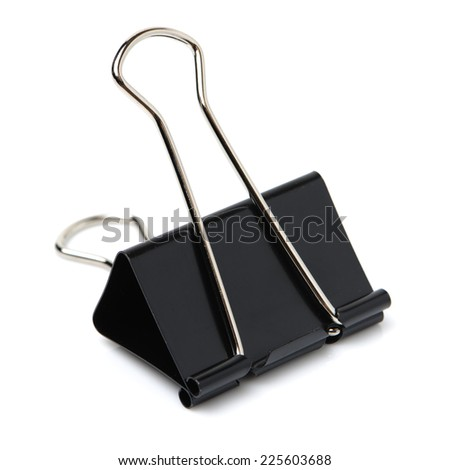 binder clips isolated on white background  - stock photo