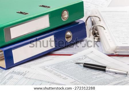 Binder, standard, law. - stock photo