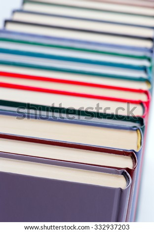 Binding of a book closeup, shallow DOF