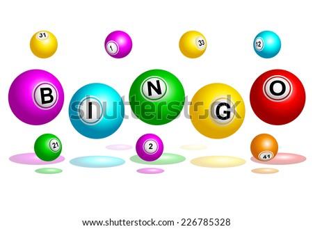 Bingo balls spelling out Bingo word illustration  - stock photo