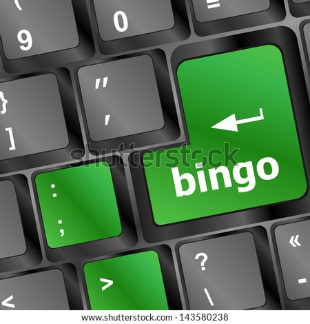 bingo button on computer keyboard, raster