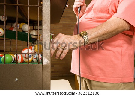 Bingo caller - stock photo