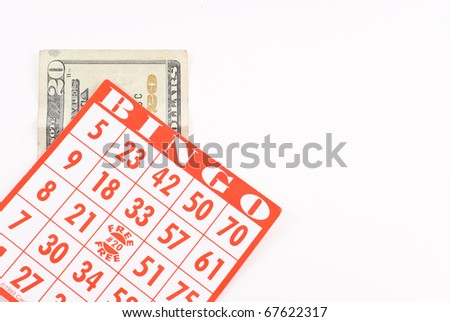 Bingo Card Background with Custom Space - stock photo
