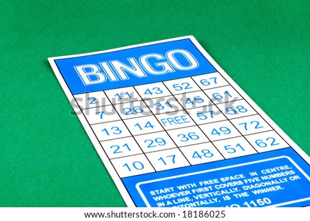 Bingo card risk gamble - stock photo