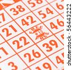 Bingo Free Spot Close Up - stock photo