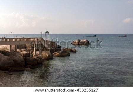 Binh Thuan, Vietnam, June 28, 2015 resort, beach, Binh Thuan, Vietnam