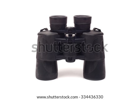 Binocular isolated on white background - stock photo