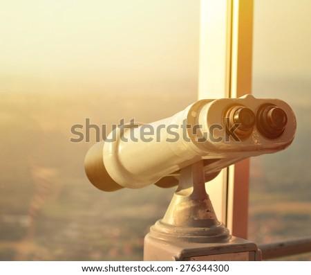 Binocular viewer - stock photo