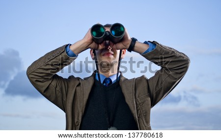binoculars 06 - stock photo