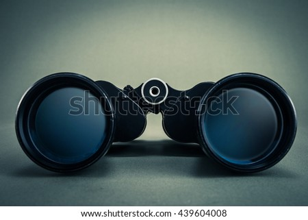 binoculars - stock photo