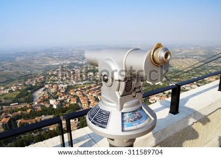 binoculars for observation - stock photo