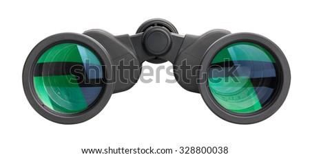 binoculars isolated - stock photo
