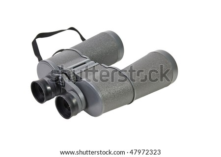 Binoculars isolated on a white background