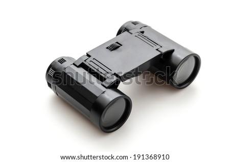 binoculars isolated on white - stock photo