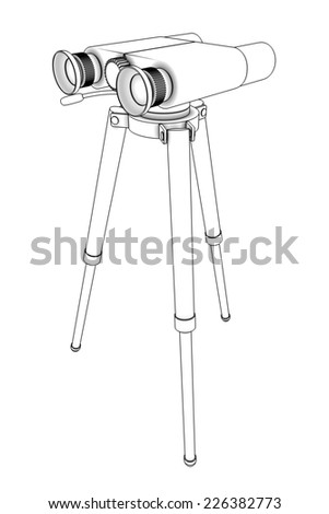 binoculars. isolated on white background. 3d