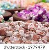 Bins of Salt Water Taffy - stock photo