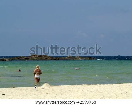 Bintan beach in Batam, Riau, Sumatra, Indonesia - stock photo