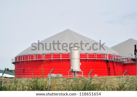 Bio fuel tank. - stock photo