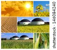 Bio gas production - collage - stock photo