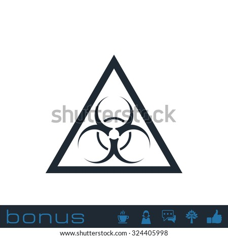bio hazard symbol - stock photo
