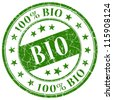 Bio stamp - stock vector