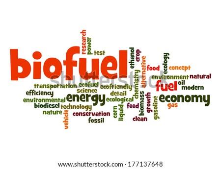 Biofuel word cloud - stock photo