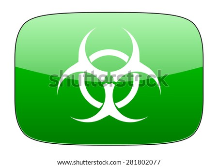 biohazard green icon virus sign