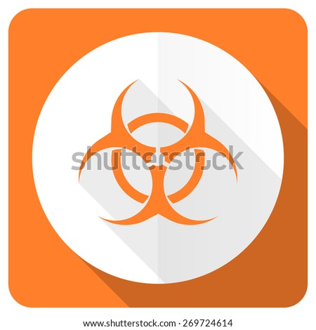 biohazard orange flat icon virus sign