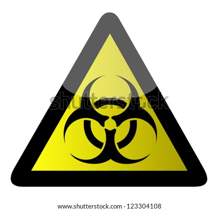 biohazard sign illustration design over a white background - stock photo