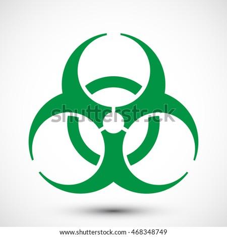 Biohazard Symbol On Background Illustration Biohazard Stock