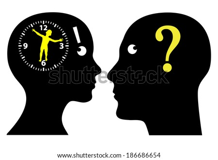 Biological Clock Ticking? Couple thinking to have children, is it high time? - stock photo