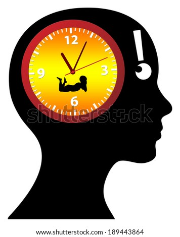 Biological Clock Ticking? Woman thinking of having children, is it high time or already too late? - stock photo