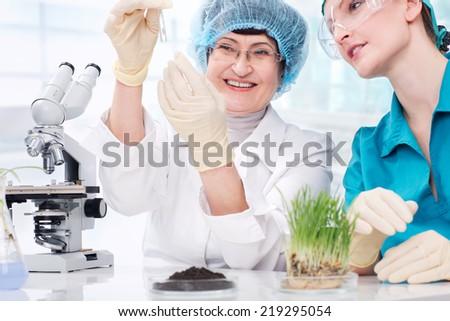 biotechnology laboratory - stock photo