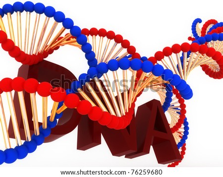 Biotechnology of DNA - stock photo