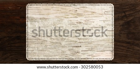 birch bark texture background perforated tag edge