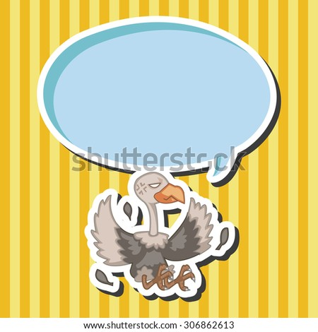 bird condor cartoon, cartoon speech icon