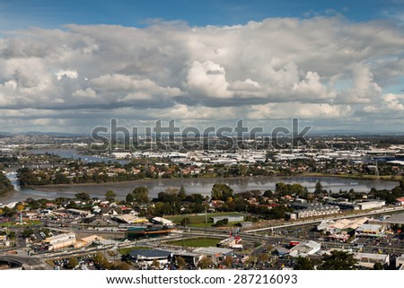 Bird-eye view to Auckland city